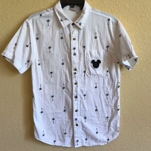 Disney Mickey Mouse Junk Food Button Down Shirt
